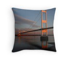 Severn Bridge, sunset Throw Pillow