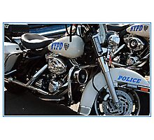 POLICE MOTORCYCLE Photographic Print