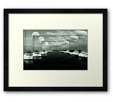 Ghost Pier ©  Framed Print