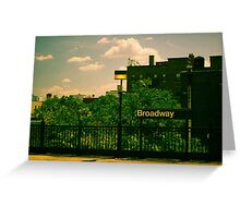 Astoria Broadway Station Greeting Card