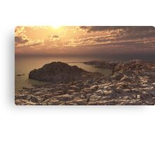 Sand by the sea Canvas Print