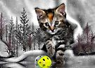 Kitten at the Pond by Elaine  Manley