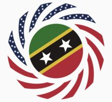 Kittian and Nevisian American Multinational Patriot Flag Series by Carbon-Fibre Media