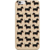 Black and Brown Dachshunds Pattern iPhone Case/Skin
