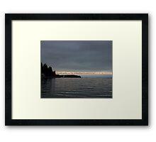 alpine peek Framed Print