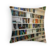 Some of the books in Reading Room Throw Pillow