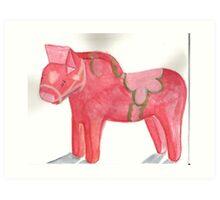 Dalahäst Horse Art Print