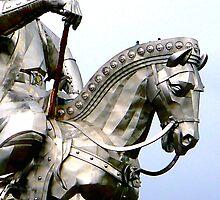 Genghis Khan Equestrian Statue by Geoff Judd