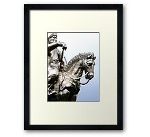 Genghis Khan Equestrian Statue Framed Print