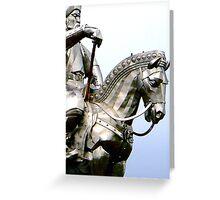 Genghis Khan Equestrian Statue Greeting Card