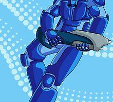 The Blue idiot by Zatsmoopy