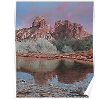 Sunset over Red Rocks of Sedona Arizona Poster