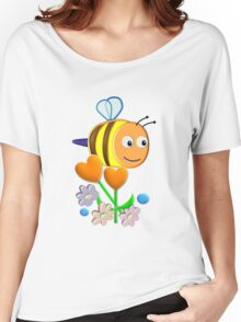 Cute Bumble Bee Women's Relaxed Fit T-Shirt