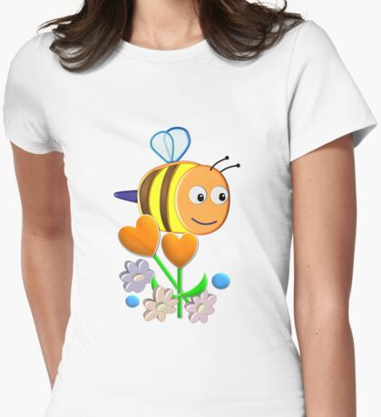 Cute Bumble Bee Womens Fitted T-Shirt
