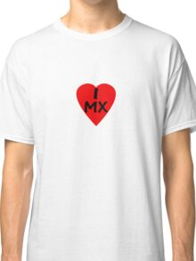 I Love Mexico - Country Code MX T-Shirt & Sticker Classic T-Shirt