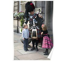 The Scottish Piper and the Bairns. Poster