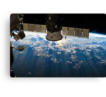 ISS over the Atlantic, 2013 (Enhanced) Canvas Print