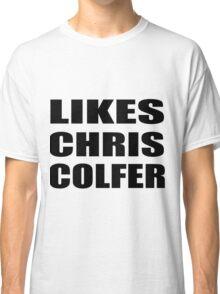 LIKES CHRIS COLFER Classic T-Shirt