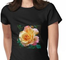 Orange and Pink Rose at Sunrise - Square Format Womens Fitted T-Shirt