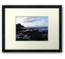 The Giant's Causeway - eatly evening Framed Print
