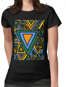 Litter Of Triangles Womens Fitted T-Shirt