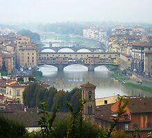 Ponte Vecchio, River Arno, Florence by artfulvistas