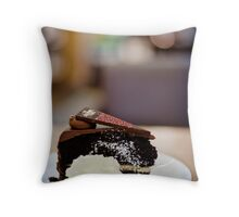 chocolate cake... Throw Pillow
