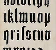 Measurement With Compass Line Leveling Albrecht Dürer or Durer 1525 0140 Alphabet Letters Calligraphy Font by wetdryvac