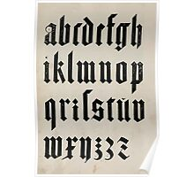Measurement With Compass Line Leveling Albrecht Dürer or Durer 1525 0140 Alphabet Letters Calligraphy Font Poster