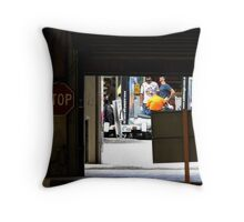Chit Chatting on Rundle Throw Pillow