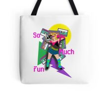 Crazy 80s Girl Boombox Tote Bag