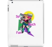 Crazy 80s Girl Boombox iPad Case/Skin