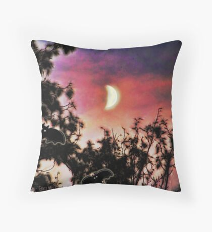 Happy Howling Throw Pillow
