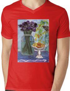 Flowers & Fruits Still Life Mens V-Neck T-Shirt