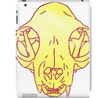 cat skull transparent iPad Case/Skin