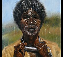 DAVID GULPILIL-THE TRACKER. by Wayne Dowsent