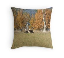 white tails Throw Pillow