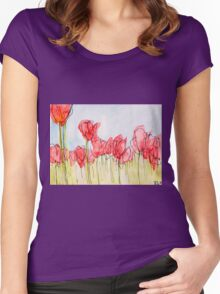 Field of tulips Women's Fitted Scoop T-Shirt