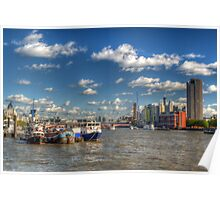 Down river from Embankment Poster