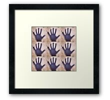 Shadow Hands Framed Print
