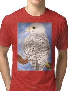 Bird of Kings, Gyrfalcon Tri-blend T-Shirt