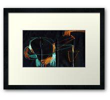 hesitation Framed Print