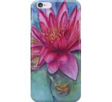 Hide and seek in the Water Lilly iPhone Case/Skin