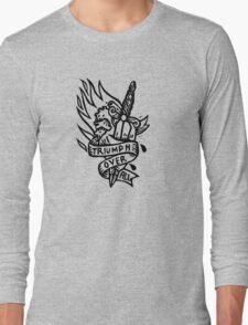 Dagger and Heart - Black Long Sleeve T-Shirt