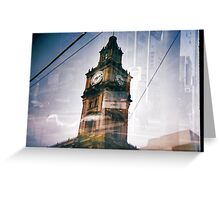 Clock tower- Melbourne city Greeting Card