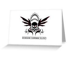 The Shadow Company Elite Logo Greeting Card
