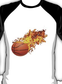 Flaming Basket Bal T-Shirt