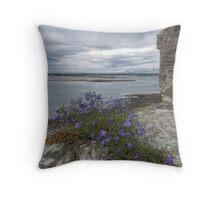 Holy Island Castle - Battlements Throw Pillow