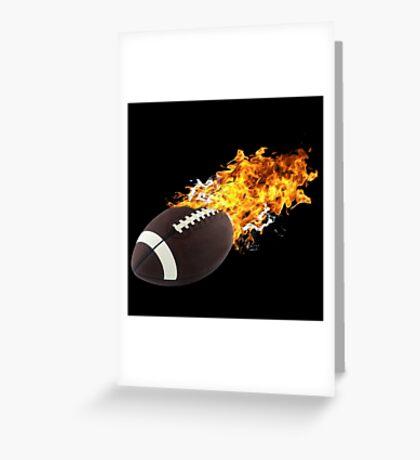 Flaming FootBall Greeting Card