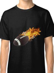 Flaming FootBall Classic T-Shirt